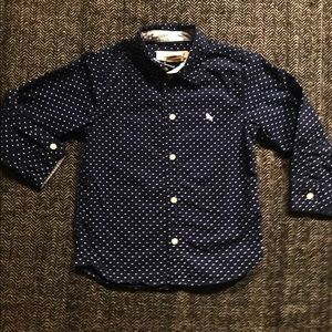 H&M button down polka dot dress shirt size 3-4T